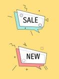 Set nowożytne promo oferty Zdjęcia Stock