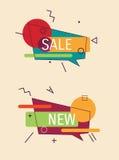 Set nowożytne promo oferty Zdjęcie Stock