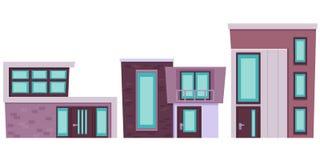 Set nowożytny budynek Fotografia Royalty Free