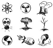 Set - nuclear energy Royalty Free Stock Photos