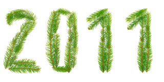 Set of number from Cristmas tree Stock Photography
