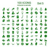 Set 5 of 100 ecology icons - stock vector vector illustration