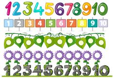 A Set of Number Font. Illustration vector illustration