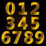 Set of Number with Golden style. 0 1 2 3 4 5 6 7 8 9 set number with gold, golden style Royalty Free Stock Photos
