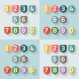 Set of number on a label. Vector Royalty Free Stock Photos