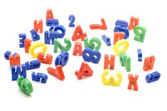 Set of number and letter Royalty Free Stock Photography