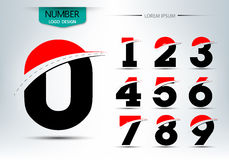 Set of number logo or icon template. Vector illustration Royalty Free Stock Photography