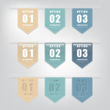 Set of  number modern banners or tags. Set of  number modern banners or tags for business , Infographics and presentation Stock Images