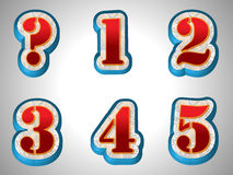 Set Number Style Stock Photos