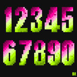 Set number style 8 bit. Set number style of 8 bit stock illustration