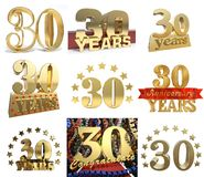 Set of number thirty years 30 years celebration design. Stock Photography