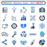 Set number two of Business Icons - stock vector royalty free illustration