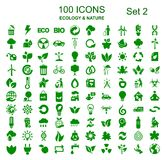 Set number two of 100 ecology icons - vector royalty free illustration