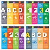 Set of numbered banners Royalty Free Stock Photo