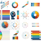 Set 16 numbered templates for Infographics, text area Eight posi Royalty Free Stock Photography