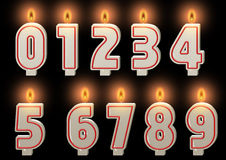 Numbered candles. Royalty Free Stock Images
