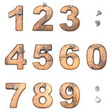 Set of numbers Stock Photography