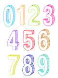 Set of numbers. Illustraion of set of numbers Royalty Free Stock Photography