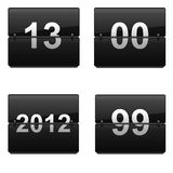Set of numbers. Four icons on white royalty free illustration