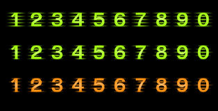 Set of  numbers Royalty Free Stock Images