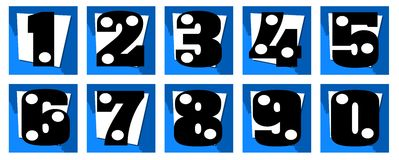 Set of Numbers on abstract background isolated Royalty Free Stock Image