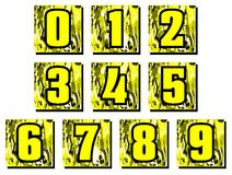 Set of Numbers on abstract background isolated Royalty Free Stock Photos