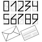 A set of numbers as on the envelope. Mailing envelope. Royalty Free Stock Photos