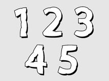 12345 set of numbers with a bloated design Royalty Free Stock Photography