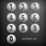 Set of numbers Royalty Free Stock Image