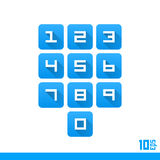 Set of numbers buttons Stock Photography