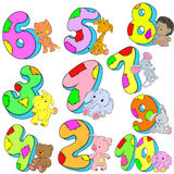 Set of numbers for congratulations. Date of Birth. Happy Birthday. Vector Royalty Free Stock Photo