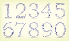 Set of numbers Royalty Free Stock Photo