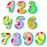A set of numbers. Figures pillows. Vector illustration Royalty Free Stock Photos