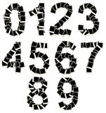 Set of numbers of images from zero to nine Royalty Free Stock Photography