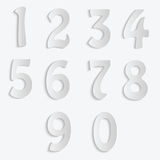 Set of numbers isolated on white background Stock Photos