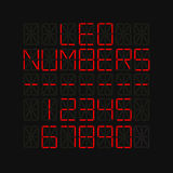 Set of numbers on LED screen Stock Images