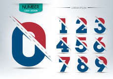 Set of numbers logo or icon, Vector illustration Stock Images