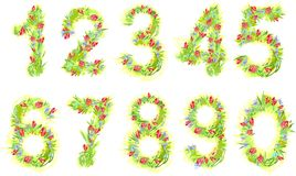 Set of numbers Royalty Free Stock Photos