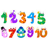 Set of Numbers Monster. Vector Illustration of Set of Numbers Monster Royalty Free Stock Photography