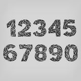 Set of numbers  from  one to zero. Stock Photography