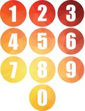 Set of numbers round web buttons isolated vector icons vector illustration