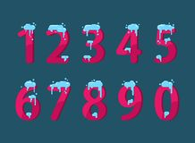 A set of numbers royalty free illustration