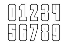 Set of numbers. Set of numbers by simple lines Royalty Free Stock Photos