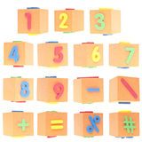Set of Numbers and Symbols Royalty Free Stock Photos