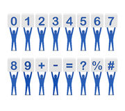 Set of numbers and symbols. Stock Photography