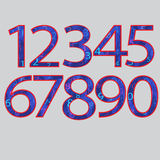 Set numbers. And symbols for education. Vector illustration Royalty Free Stock Image