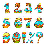 Set of numbers and symbols Royalty Free Stock Photography