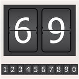 Set of numbers on a timetable. Set of numbers on a mechanical timetable Royalty Free Stock Image