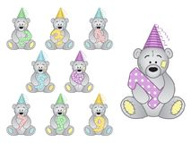 Set of numbers to the child`s birthday from 1 to 9 years Stock Photography