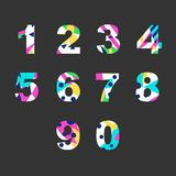 Numbers with abstract fill. Set of numbers with unique bright fill. Great for postcard, textiles, advertising, invitation for a holiday and other design vector illustration